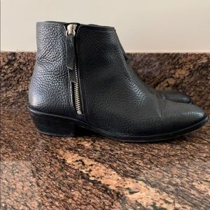 J.CREW LEATHER ANKLE BOOTIE WITH SIDE ZIP 7